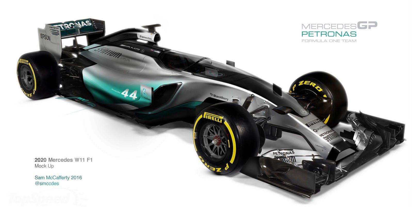 2020 Mercedes W11 F1 Mock Up By Sam McCafferty (3 fotos