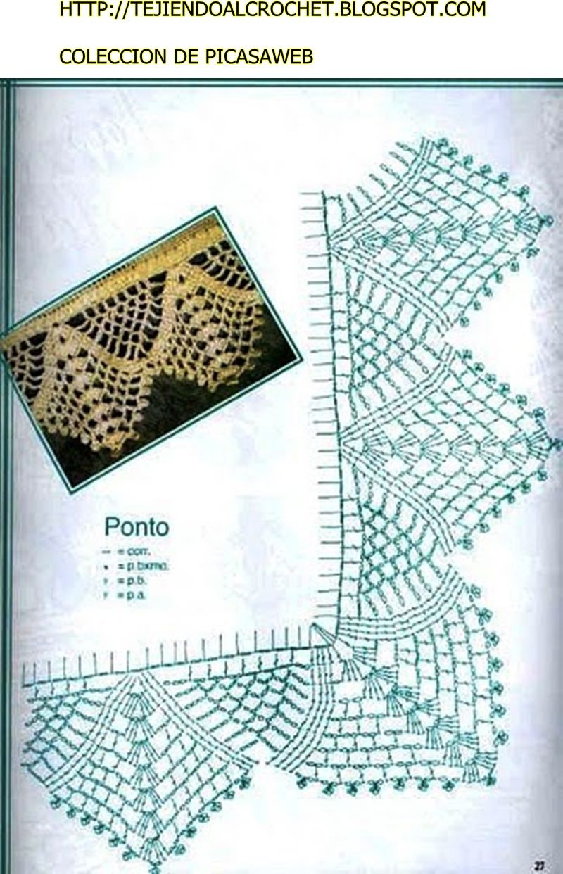 Patrones crochet ganchillo graficos graficos - Patrones de ganchillo ...