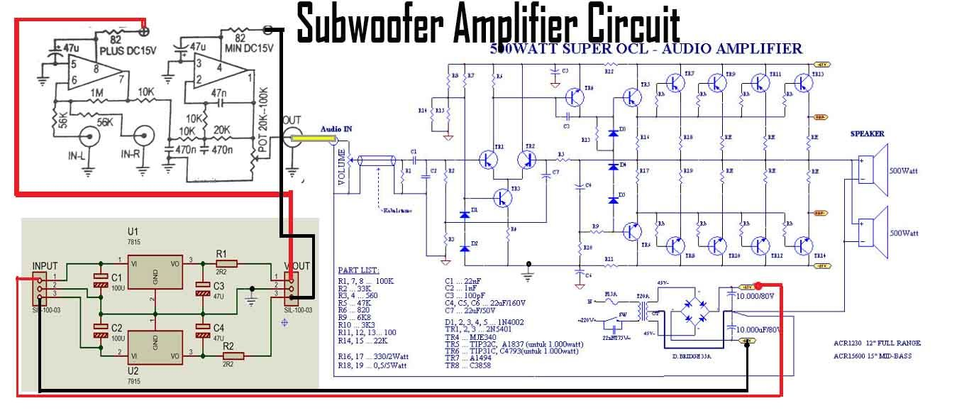 Subwoofer Amplifier With Power Socl 500w