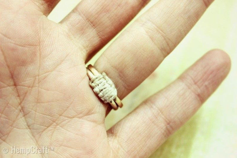 How To Make A Loose Ring Fit With Hemp Cord Ring Fit How To Make Rings Make A Ring Smaller