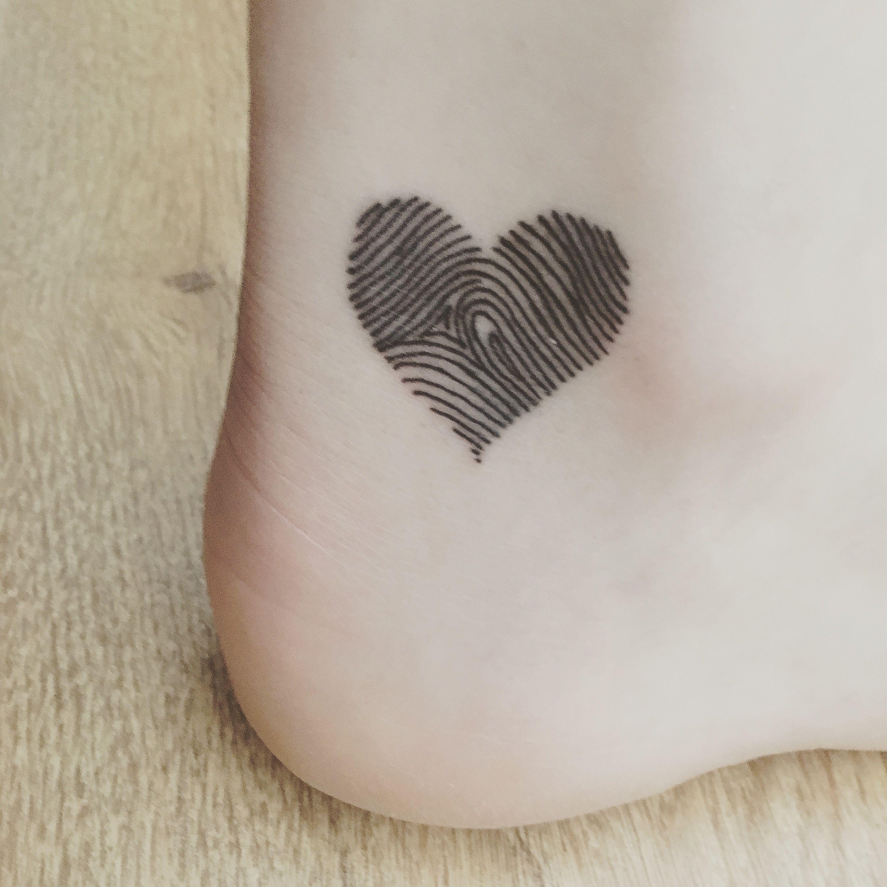 heart shaped fingerprint tattoo tattoo ideas. Black Bedroom Furniture Sets. Home Design Ideas