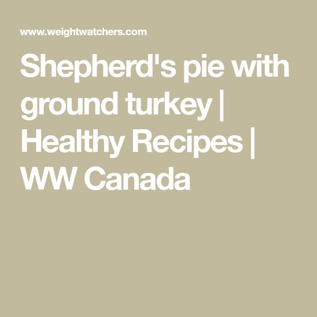 Photo of Shepherd's pie with ground turkey | Healthy Recipes | WW Canada