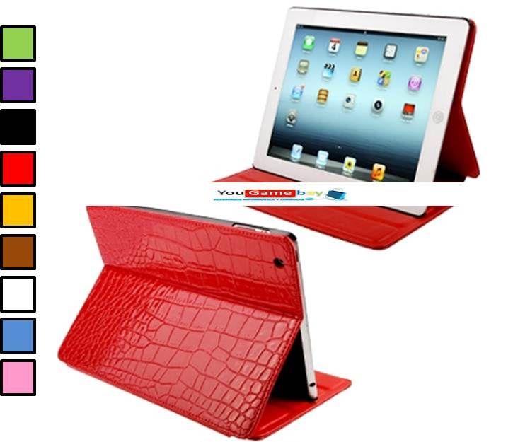 Fundas baratas iPad 2 / iPad 3. Funda para iPad con soporte y textura de cocodrilo por sólo 15.74 euros con envío incluido.  http://www.yougamebay.com/es/product/funda-protectora-para-ipad-2--ipad-3-con-diseno-piel-de-cocodrilo