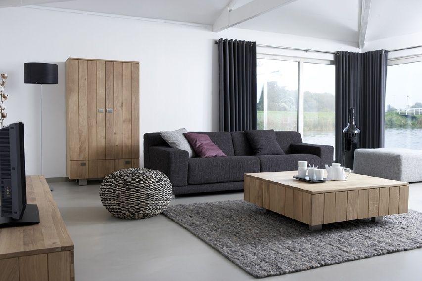 foto de Landelijke stijl: strak leuke moderne klemtonen Woonkamer Woonkamer inrichting Interieur