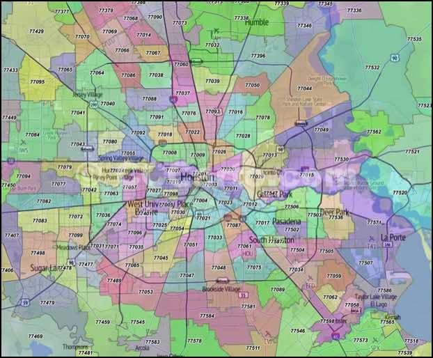 Houston Zip Codes Harris County Tx Zip Code Boundary Map Zip Code Map Houston Zip Code Map Houston Map