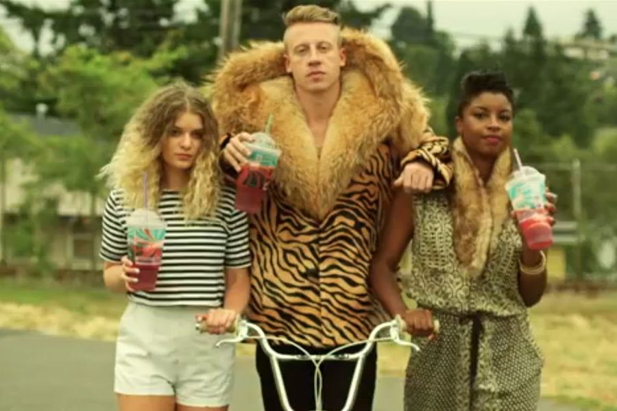 macklemore this is begging to be a halloween costume and if no one gets it you can just say youre the cowardly lion or something