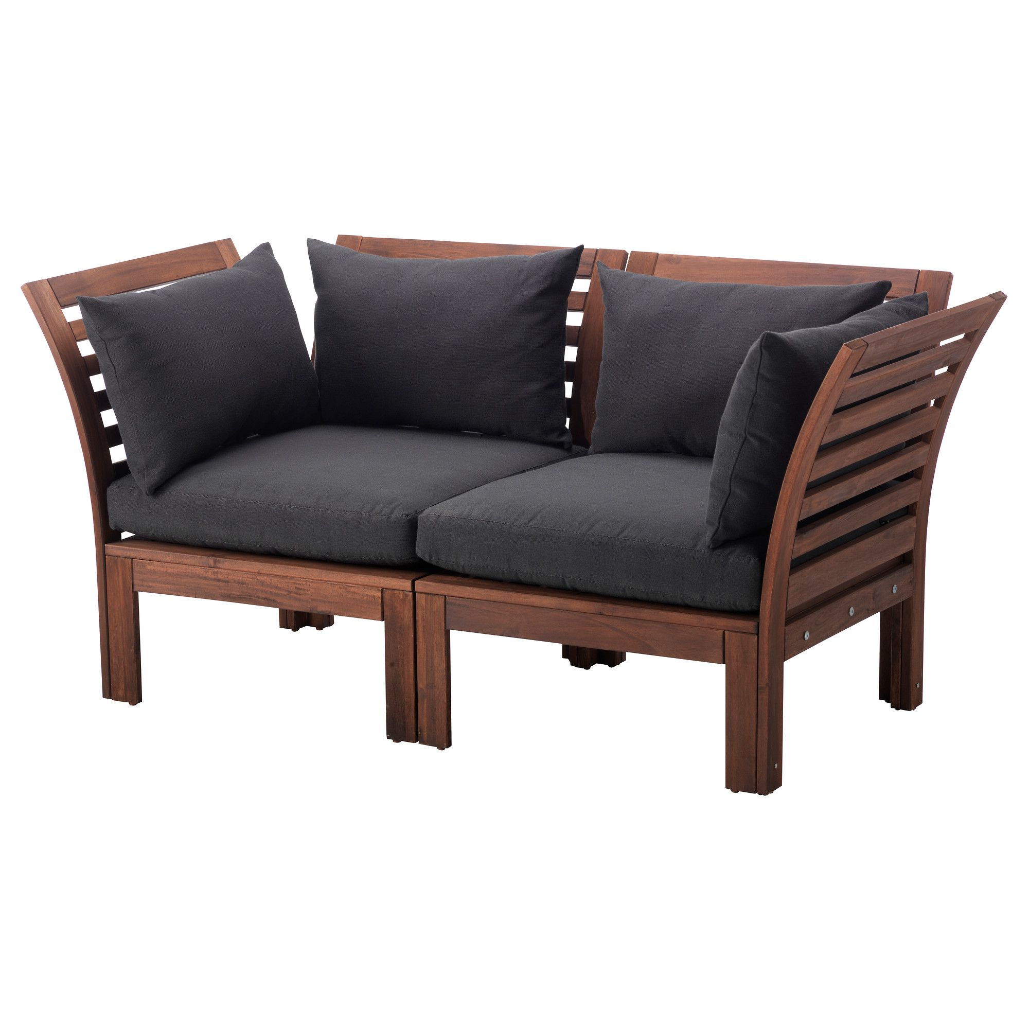 """PPLAR– H…LL– Loveseat outdoor brown brown stained black"