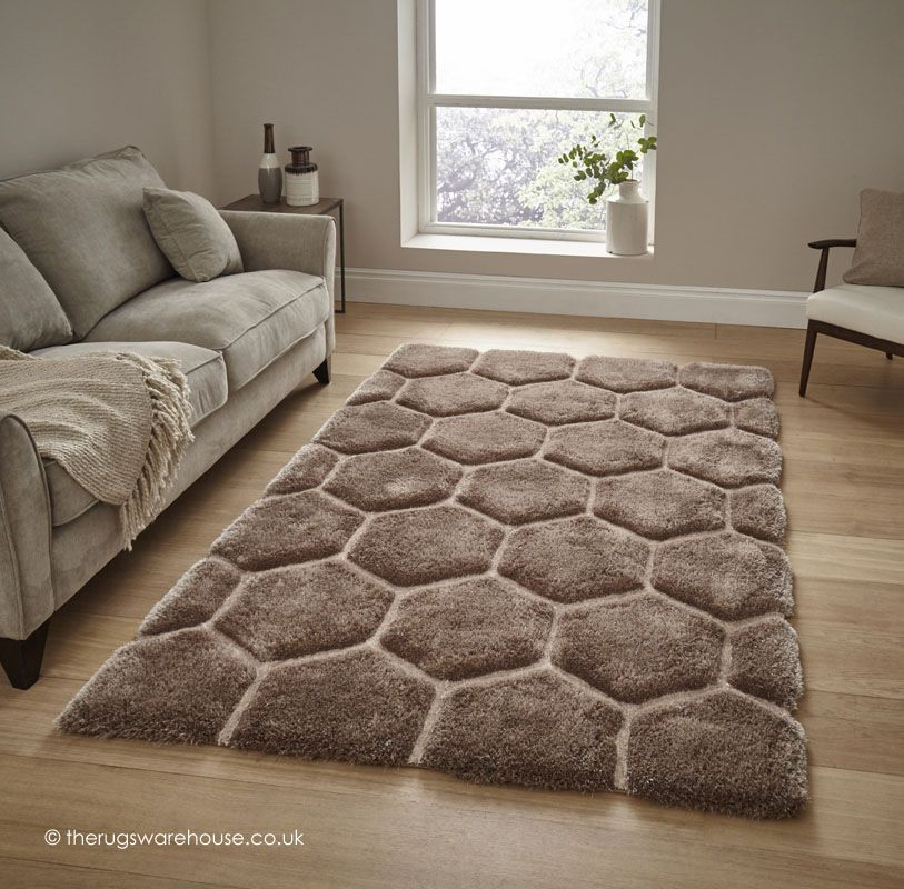 Cooper Beige Rug A Shaggy Polyester Acrylic Hand Tufted Textured Modern
