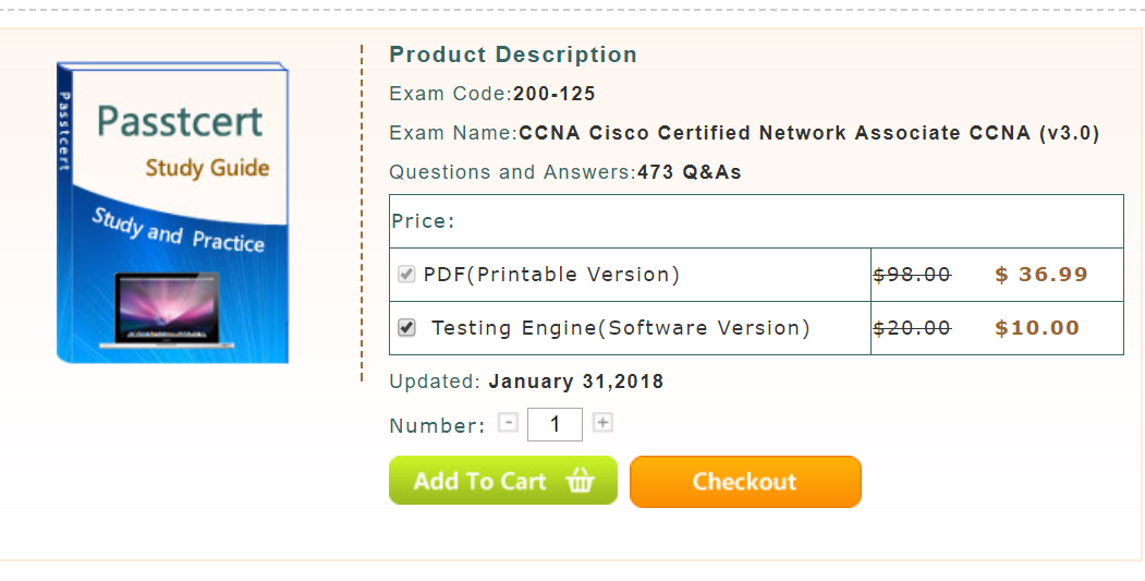 Passtcert provides the latest Cisco certification 200-125 CCNA exam ...
