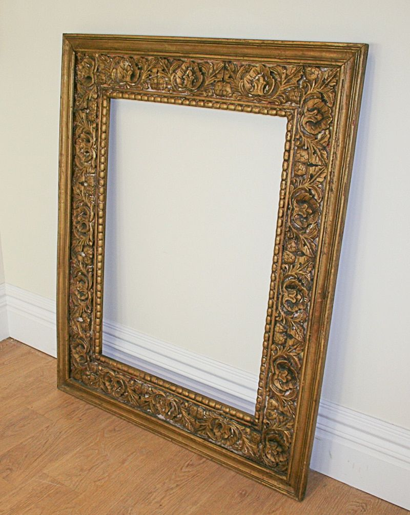 Large Antique Style Carved Ornate Vintage Gilt Wood Mirror Frame 4ft X 5ft Idei Dlya Doma Dlya Doma Dom