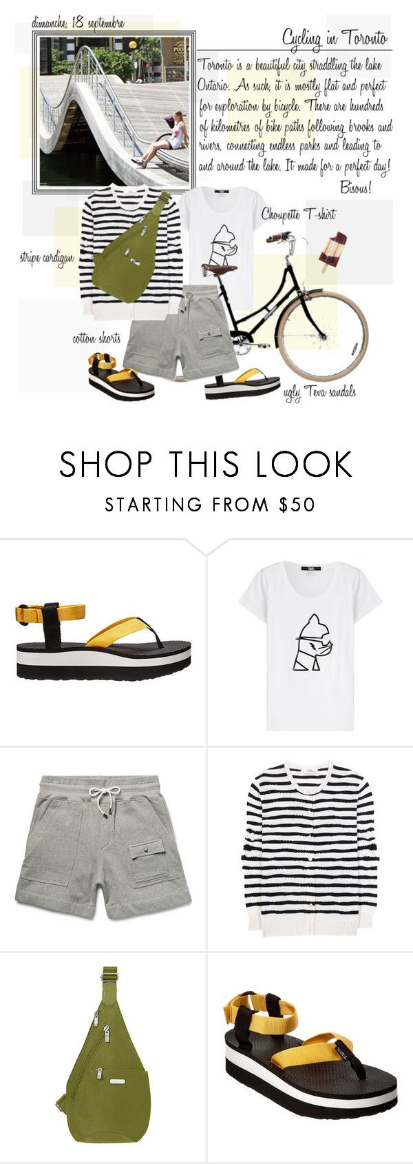 """""""Mon Style № 100 - September 18, 2016"""" by mon-style-diary ❤ liked on Polyvore featuring Teva, Karl Lagerfeld, Michael Bastian, Barrie, Baggallini, uglyshoes and tevas"""