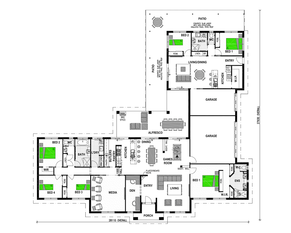 Attached granny flats granny flat house and family for Granny flat house plans