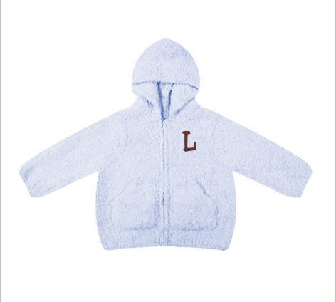 This snuggly sweater will keep a little one warm and comfy. Wrinkle-free fabric won't pill or shrink. A Little Bit Of This Microchenille Hooded Jacket Light Blue. Click the image to get more information about the product, including personalization options, at our online store!