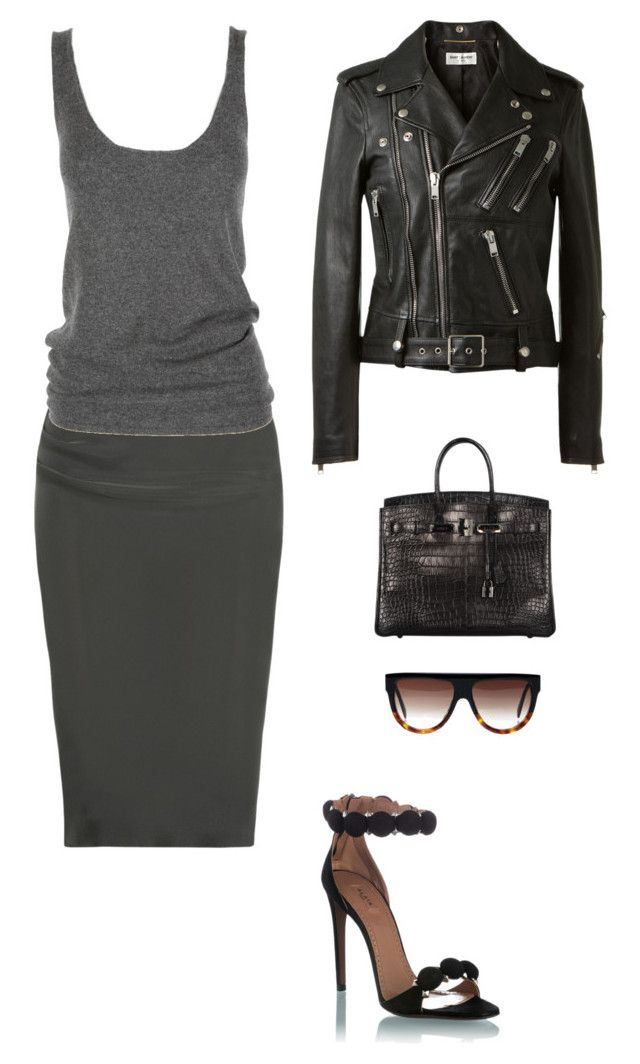 """""""Untitled #1100"""" by beststylist ❤ liked on Polyvore featuring Lanvin, Lutz Huelle, Alaïa, Yves Saint Laurent and Hermès"""