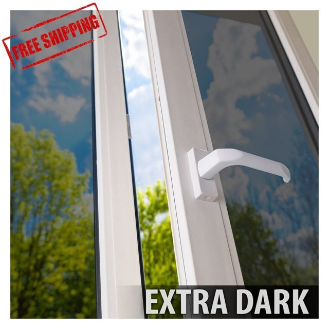 One Way Mirror Window Film Tint Reflection 36 Inch X 12 Ft Silver 5 Extra Dark Window Film Mirror Window Film Silver Mirrors