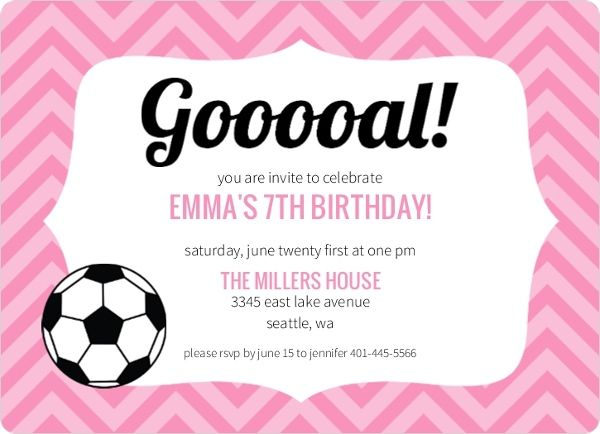 soccer invitations templates