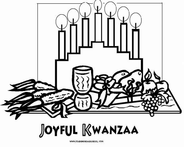 happy kwanzaa coloring pages - photo#20