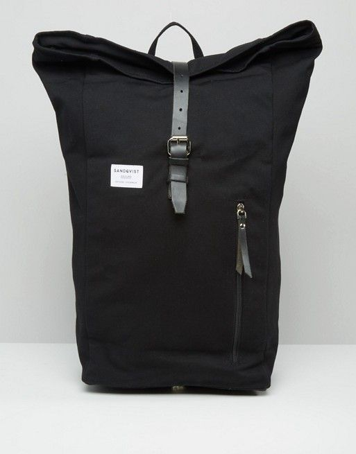 93e23a3a5e Sandqvist Dante Rolltop Backpack In Black