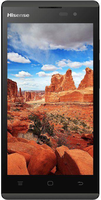 """Hisense U961B - Smartphone de 5"""" (MT6572M A7 Dual-Core 1 GHz, 8 GB ROM + 1 GB RAM, Dual Core 1.0, cámara de 5 MP, Android 4.4) color negro"""