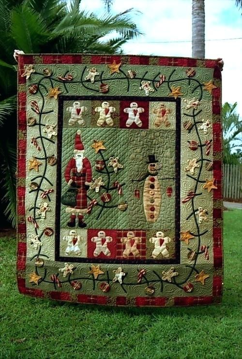 Country Quilted Christmas Stockings Christmas Quilt