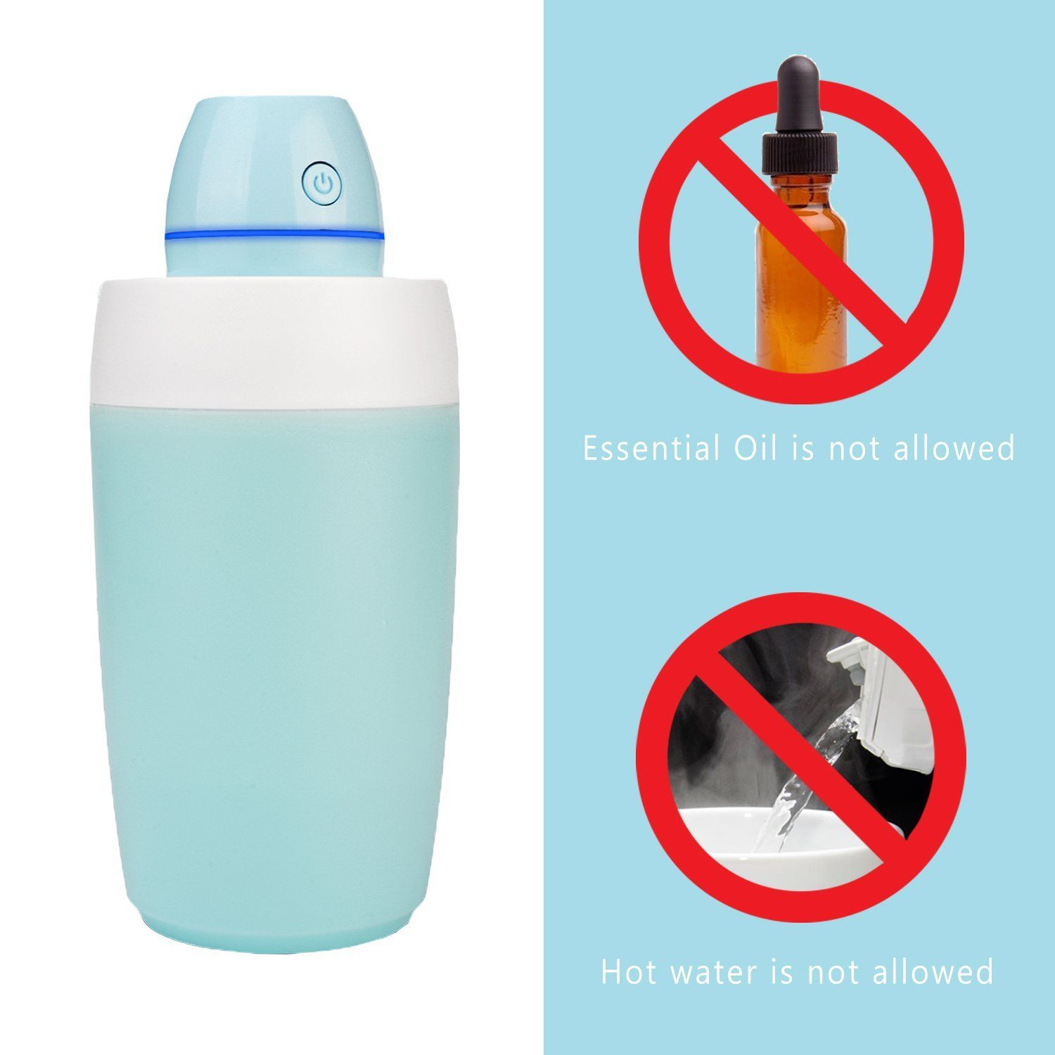 Starrybay Portable Mini Clean Cool Mist Humidifier Ultraquiet Desk Personal Air With Led Perfect For Travel Home Office Bedroom Or
