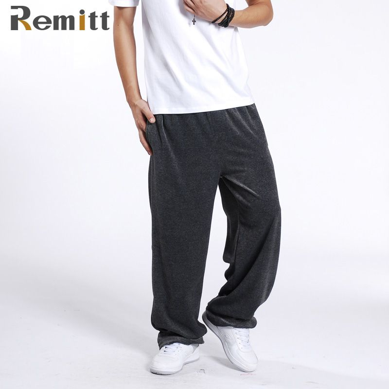 b21547942c751e sleeve tattoos Men Hip Hop Sweatpants Plus Size XXL 3XL Loose Casual Track  Pants Dancer Joggers Wide Legs Pant Baggy Velvet Exercise Trouser     Click  the ...