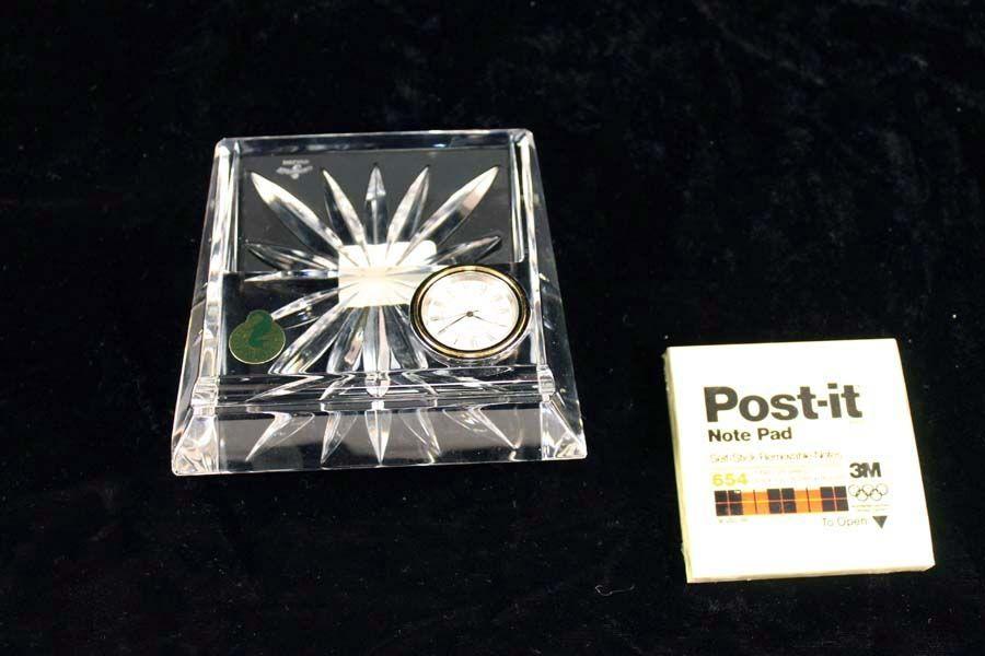 Waterford Cystal Desk Clock Desk Clock Clock Waterford Crystal