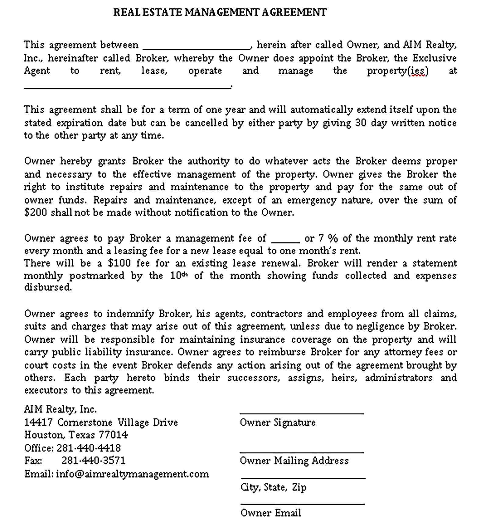 Property Management Agreement Template from i.pinimg.com