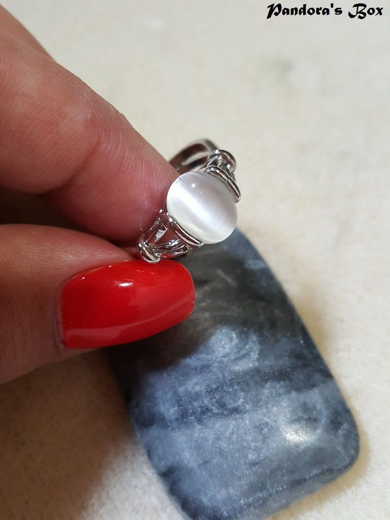 925 sterling silver natural moonstone bella swan rings