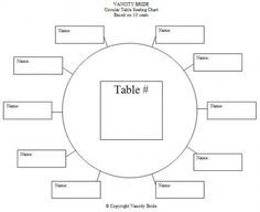 Table Assignment Template