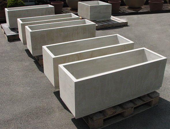 Cement Container Planters : Concrete planters pinterest modern
