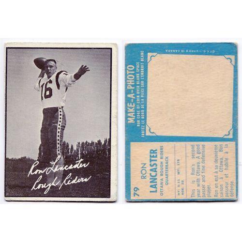 1961 Topps Ron Lancaster Rookie Card #79 Ottawa Rough