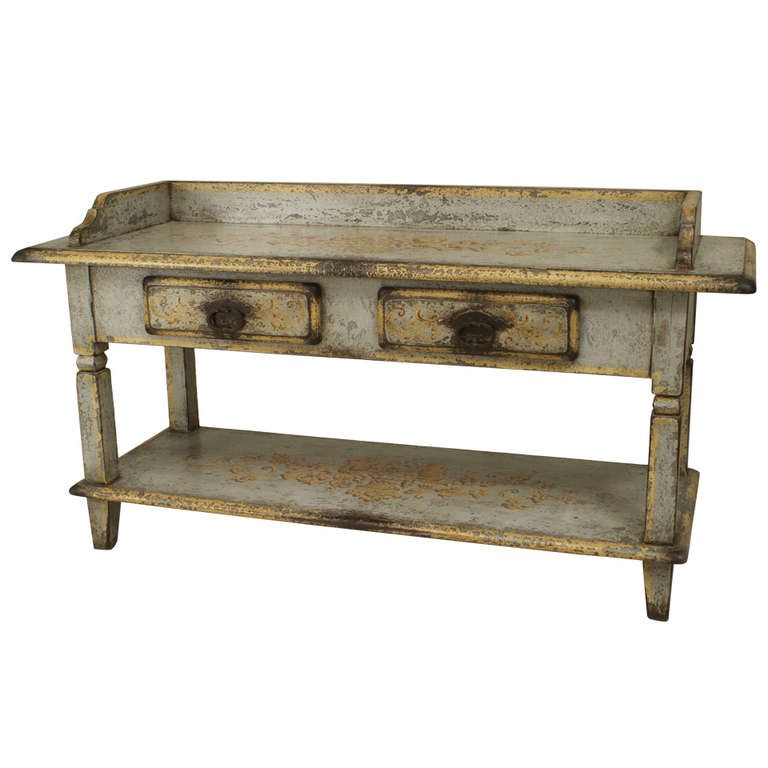 french provincial grey and gold serving or work table 19th c  french provincial grey and gold serving or work table      rh   pinterest com