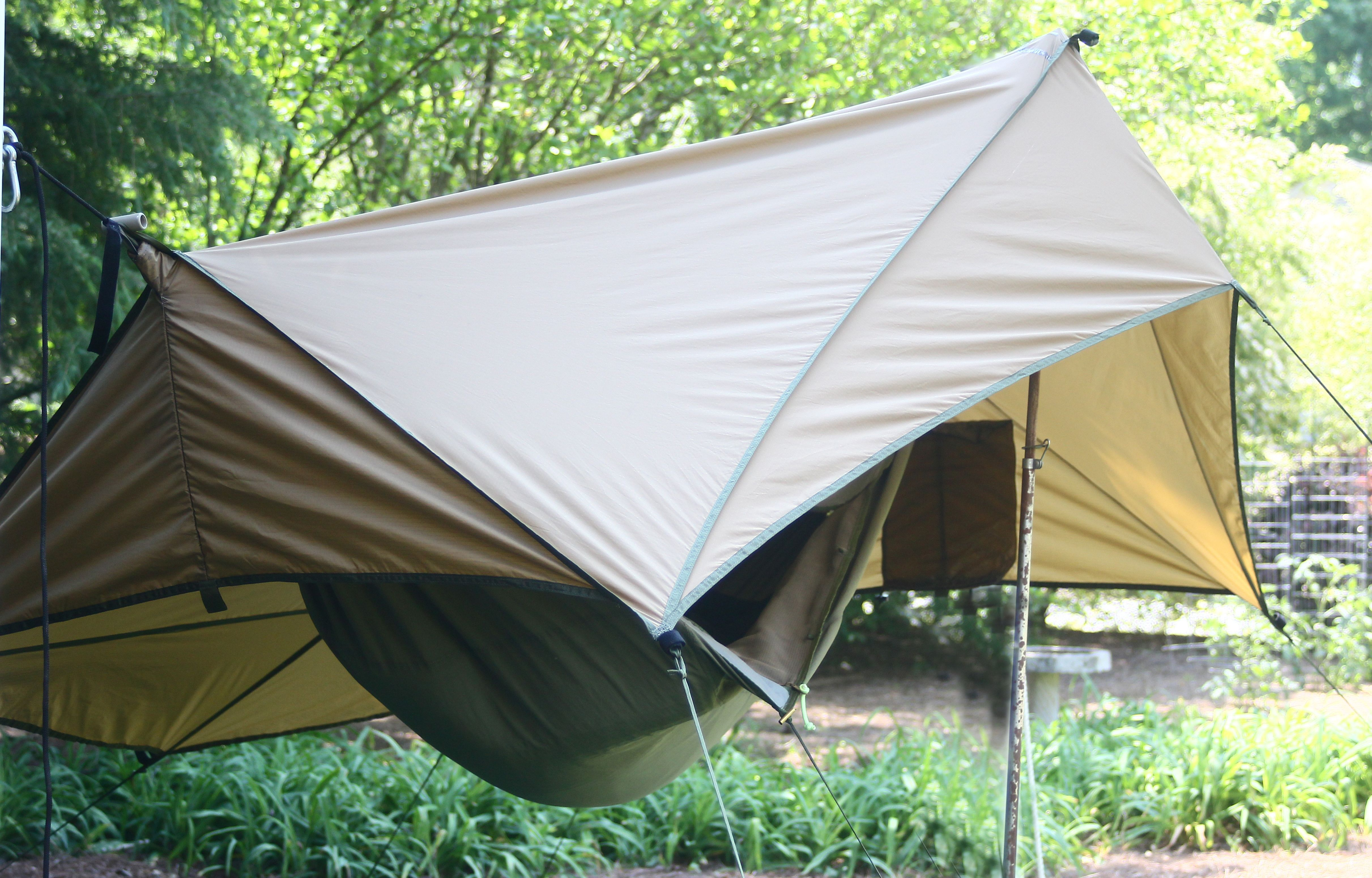 Side View Shows The Spacious Standing Area At The Hammock Side Door Entry Hammock Camping Outdoor Kayak Tours