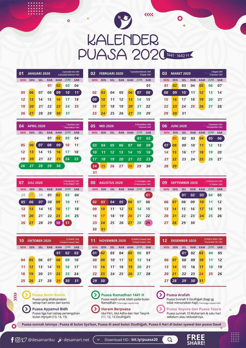 Kalender Puasa Sunah 2021 Pdf - Baca Baca
