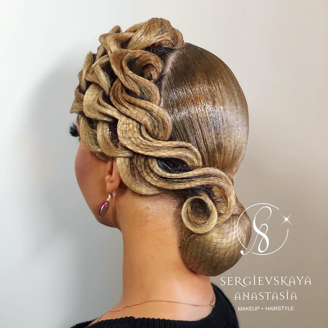 Sergievskaya Anastasia On Instagram Svetlana Gudyno Hairstyle By Sergievskaya Stylist Dance Hairstyles Competition Hair Dance Competition Hair
