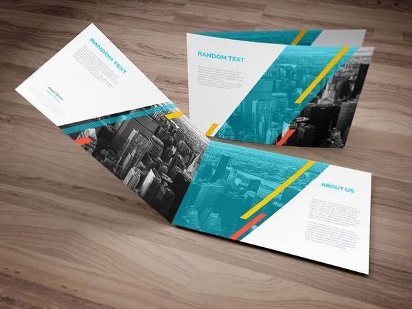free a4 landscape brochure psd mockup elements for design mockup