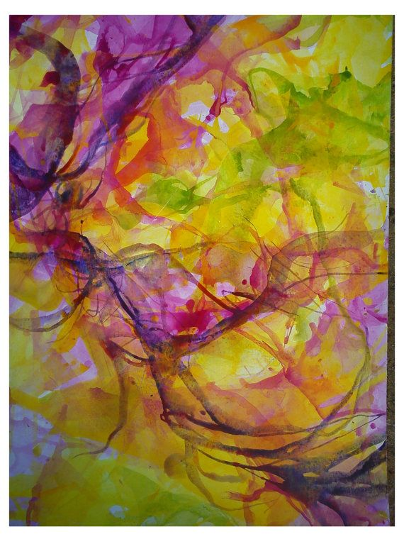 Large Watercolor Abstract Contemporary Art By Colorsofmyearth