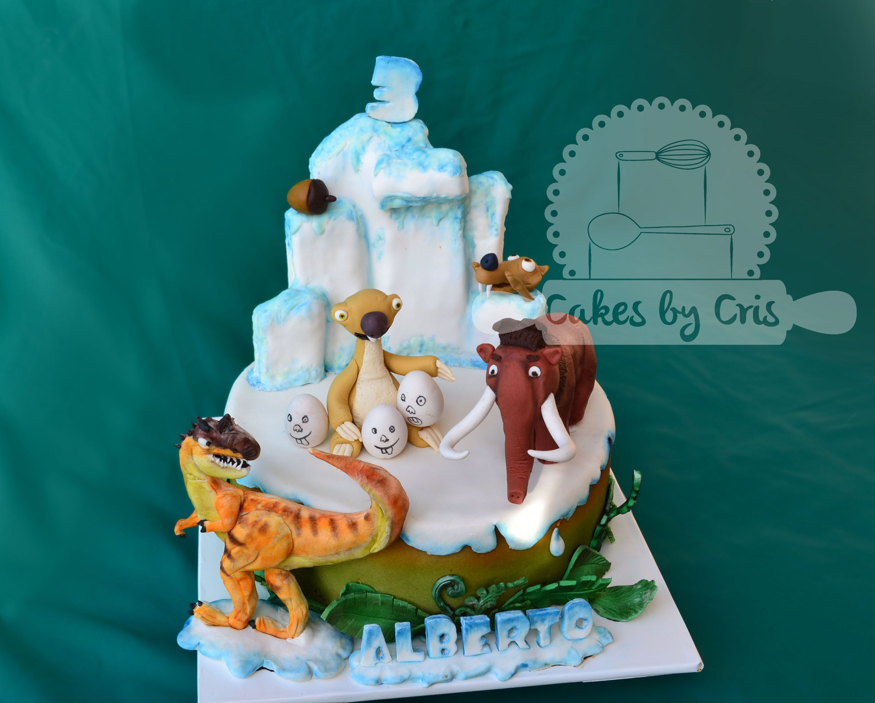 ice age 3 cake  the dawn of the dinosaurs  ice age cake