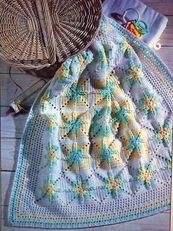Unique Baby Afghans To Crochet By Rose Marie Brooks Vintage ...