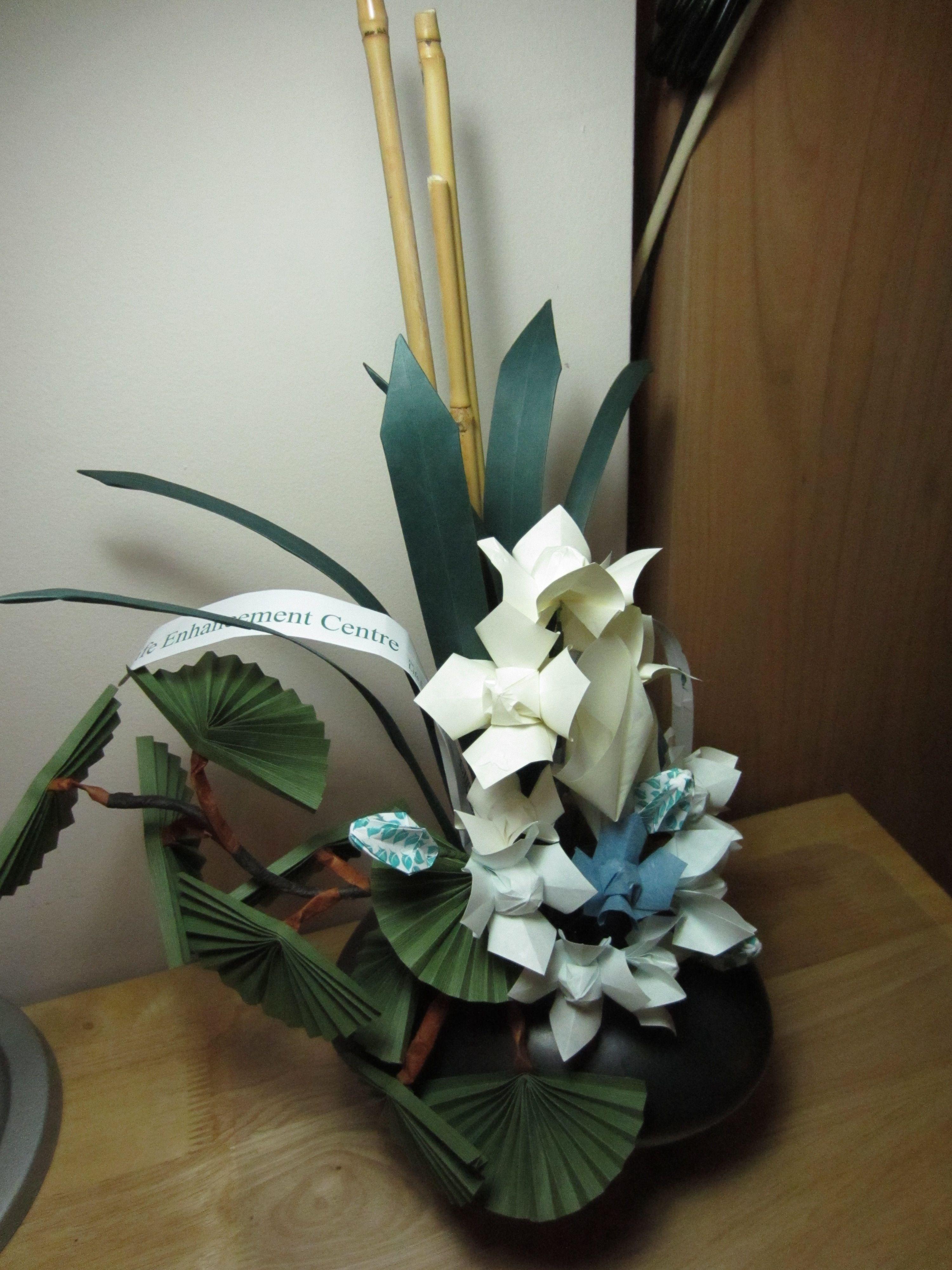 Origami Flower Paper Flower Bouquet Arrangement Bridal Fair