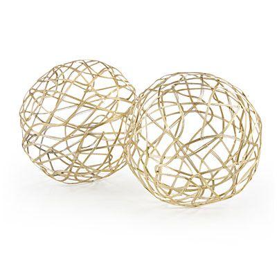Gold Wire Decorative Balls 40Pack At Big Lots BigLots Private Best Purple Decorative Balls