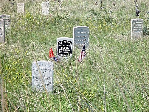Custer's Grave Stone - Little Bighorn Battlefield National Monument