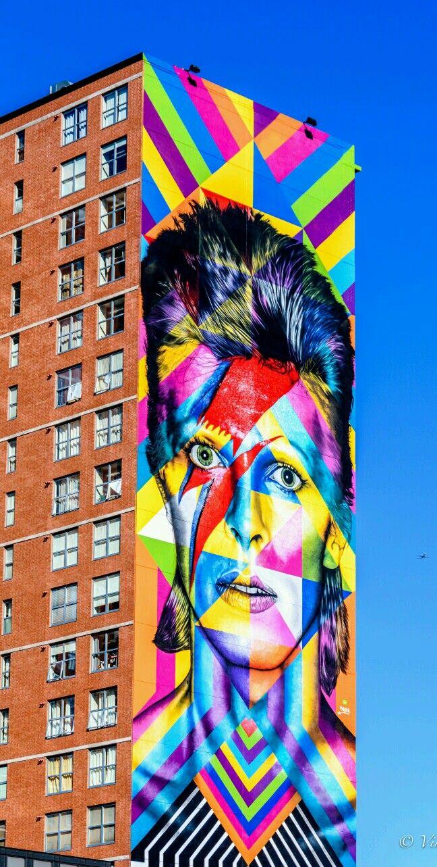 Graffiti art jersey city - Art David Bowie Tribute Mural In Jersey City New Jersey Done By Brazilian