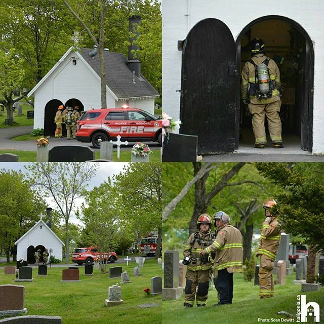 Fire Crews At The Cemetery Off Victoria Road In Dartmouth After