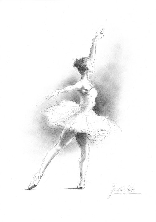 Sketch of Ballerina Ballerina Picture Set of 4 Prints Ballerina Art Ballet Drawing Ballerina Prints Ballerina Drawing Ballet Art
