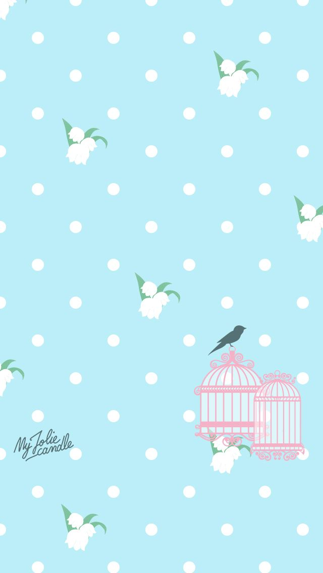 Baby Blue Pink Birdcage Iphone Wallpaper Home Screen Panpins Iphone Wallpaper Themes Iphone Wallpaper Colorful Wallpaper