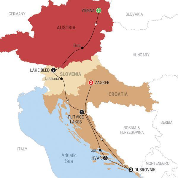 Austria Slovenia Croatia Itinerary Croatia Slovenia Trafalgar Tours
