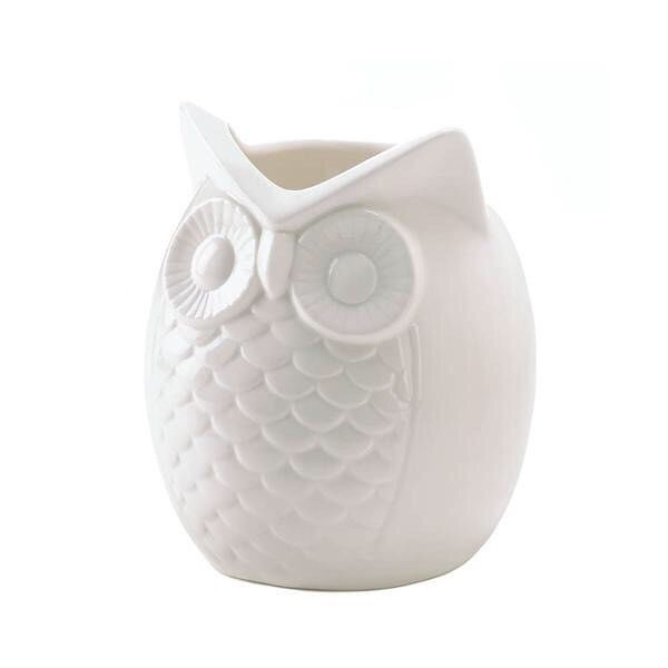 A Timeless And Darling Design This All White Owl Vase Will Happily