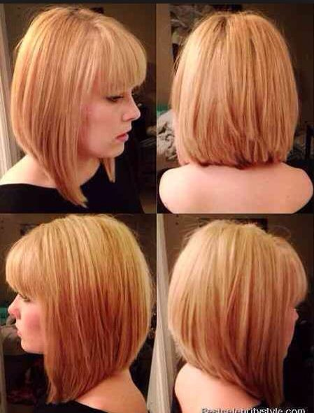Front Side And Back View Graduation Hair Cut Hair Bob